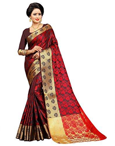 Sareeshop Silk Saree With Blouse Piece (J1003_Red_Free Size)