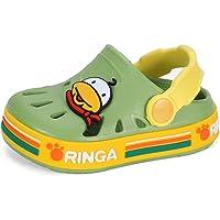 MASOCIO Kids Clogs Lightweight Toddler Cute Garden Shoes Boys Girls Indoor Outdoor Slippers Soft Beach Sandals