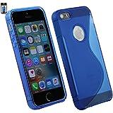 Emartbuy® Apple iPhone SE Ultra Slim Gel Haut Kasten Abdeckung Packung 3 - Blau