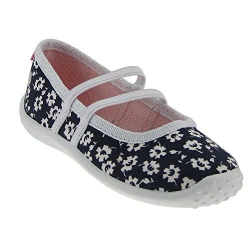 GALLUX - Mädchen Ballerinas Hausschuhe tolle Schuhe Blau