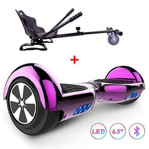 RCB Hoverboard Scooter de Auto-Equilibrio 6.5 Pulgadas Patinete Eléctrico Inteligente para Adultos,...