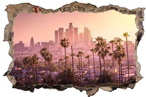 Los Angeles Stadt Sonnenuntergang Wandtattoo Wandsticker Wandaufkleber D0950 Größe 40 cm x 60 cm
