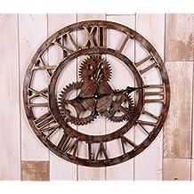 Estilo Industrial Romano Reloj De Pared Del Engranaje Digital Creativo Murales Campana 50cm