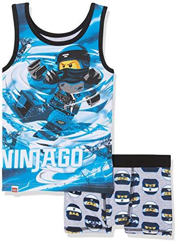 LEGO Jungen Boy Ninjago CM-73120 Unterwäsche-Set, Mehrfarbig (Blue 569), 116