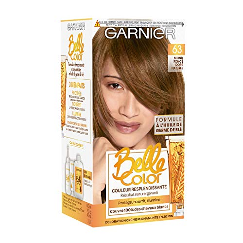 Garnier - Belle Color - Coloration permanente Châtain - 63 Blond foncé doré naturel Lot de 2