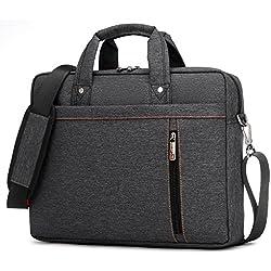 """ProElite Burnur Series LB01 Waterproof Shockproof 15""""/15.6"""" Laptop Notebook Macbook Shoulder Bag Case Briefcase [Black]"""