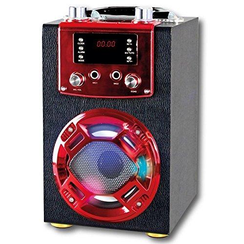 ALTAVOZ BLUETOOTH CON FUNCIÓN KARAOKE PORTATIL SD USB FM BATERIA MICRÓFONO GO-ROCK GR-WSK120