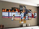 Acrylglasbilder 5 Teilig 200x100cm Volleyball Spiel Frauen Turnier Druck Acrylbild Acryl Acrylglas Bilder Bild 14F1186, Acrylgröße 11:Gesamtgröße 200cmx100cm