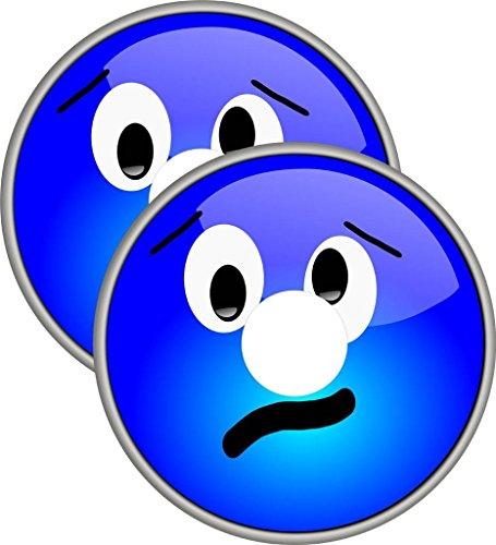 SEDIA A ROTELLE RAGGI COVER PER COPRI faccina SORRIDENTE BLU mobilità Accessori pneumatici coperture(20 pollici ruota sorridente blu)