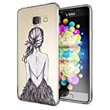Samsung Galaxy A3 2016 Hülle Handyhülle von NALIA, Slim Silikon Motiv Case Cover Crystal Schutzhülle Dünn Durchsichtig Etui Handy-Tasche Backcover Transparent Phone Bumper, Designs:Bird Princess