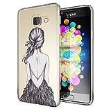 Samsung Galaxy A3 2016 Coque Protection de NALIA, Housse Motif Silicone Portable Premium Case Cover Transparente, Ultra-Fine Souple Gel Slim Bumper Etui pour A3-16, Designs:Bird Princess