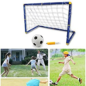 PowerLead Psoc C001 Easy Score Soccer Set Portable Folding Children Kid Goal Football Door Set