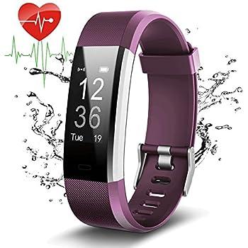 Pulsera Actividad Con GPS,ID115Plus HR Bluetooth Pulsera Intellgente con Ritmo cardiaco,Contador de pasos,Monitor de sueño,IP67 ...