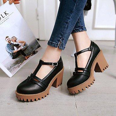 Chaussures pour femmes Talons Printemps Eté Automne Confort Cuirette Bureau et carrières Fête et soirée Boucle de talon décontracté Noir Jaune Gris Beige Gray