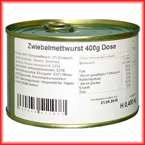 Hausmacher Dosenwurst 4 Dosen je 400g Zwiebelmettwurst Premium Qualität