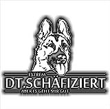 Siviwonder Auto Aufkleber DEUTSCHER SCHÄFERHUND SCHÄFIZIERT HUND INFIZIERT Hundeaufkleber 30cm white