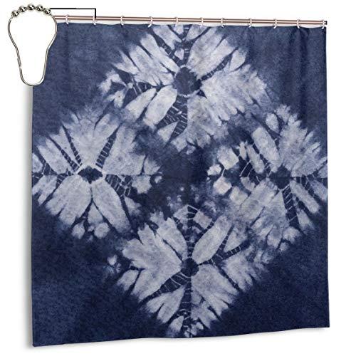 Sotyi-ltd Duschvorhänge aus Denim, mit 12 Edelstahl-Haken, langlebiger Schimmelvorhang, 183 x 183 cm -