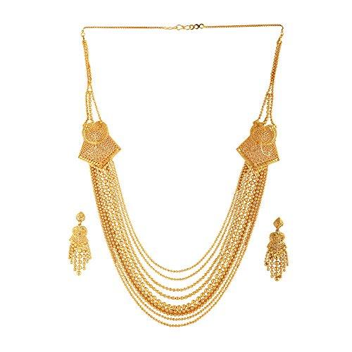 Mansiyaorange Wedding Party Collection Jewellery Neckalce Sets for Women (One Gram Golden)