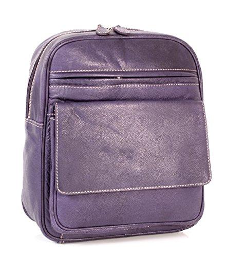01433 Londres Violet en Cuir Véritable Sac à dos – Oxbridge Petit femmes de mode sac à main