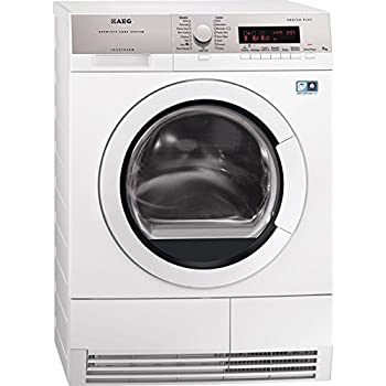 AEG T86590IH1 freestanding Front-load 9kg A++ White tumble dryer - Tumble Dryers (Freestanding, Front-load, Heat pump, White, Buttons, Left)