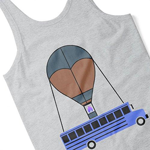 Cloud City 7 Party Bus Fortnite Women's Vest Heather Grey