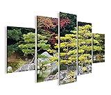 islandburner Bild Bilder auf Leinwand Japanischer Garten V2 MF XXL Poster Leinwandbild Wandbild Dekoartikel Wohnzimmer Marke