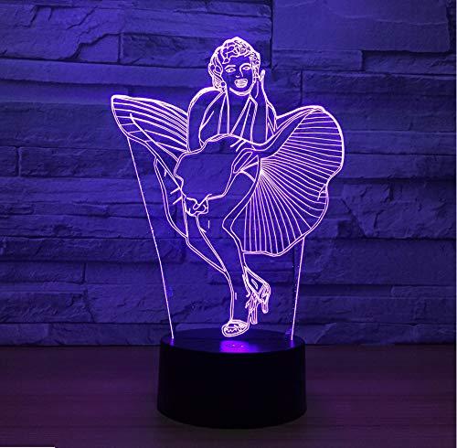 Singer Modello 3D Usb Night Light Remote Touch Lampada Da Tavolo Led Atmosfera Mood Lampada Regalo Di Natale Touch Switch