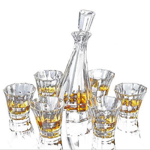 Grande Carafe Vin Rouge Avec Bouchon, Carafe Aérateur Bar et 6 Verres À Whisky Transparent