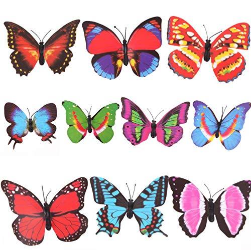 lzdyaya Bunte Schmetterlingsgarten Ornament Blumentopf Pflanze Dekor Label Marker Dekoration Chirtmas Partei Liefert Durable Kreatives ()