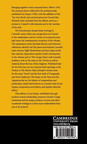 Last Essays Hardback (The Cambridge Edition of the Works of Joseph Conrad)