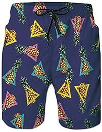 74e1665e8 Loveternal Hombre Pantalones Cortos de Playa Secado Rápido Bañador Estampado  Beach Shorts