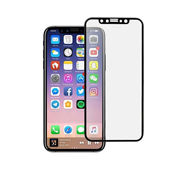big sale 07eb5 560a3 Plus Pro Hd+ Crystal Clear Full Screen Coverage Tempered Glass Screen  Protector For Apple iPhone X - Black