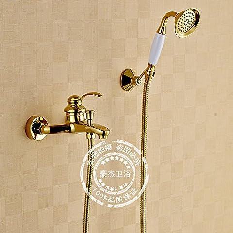 CAC Unión de cobre blanco tostado Gabinete de ducha baño ducha grifo establece Baño Baño Ducha grifos fríos y calientes