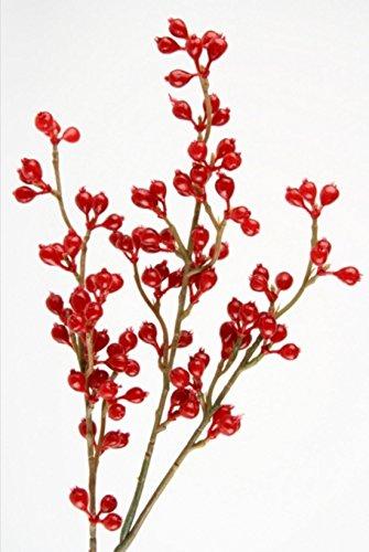 3 Deko Zweige mit roten Beeren Herbstzweige. Länge 50cm. 3 Stück