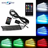 #7: Kingsway Atmosphere Music Control Multicolor 15 Led Foot Strip Light - Universal For All Cars