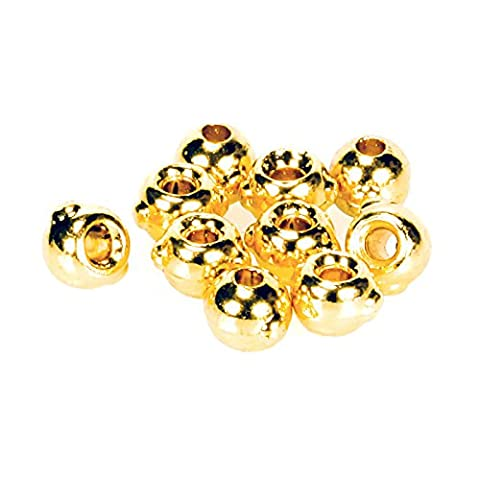 Taimen Fly Tying Tungsten Nymph Beads with Eyes Gold (10) 4.6 mm