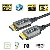 Jeirdus 8Meter AOC HDMI Glasfaser Kabel 18G High Speed HDMI Kabel unterstützt 4K@60Hz 1080P 4: 4: 4 HDCP 2.2 HDR 12bit 20m für PS4 Pro, PS4, Beamer, PC, Xbox One, Apple TV usw.