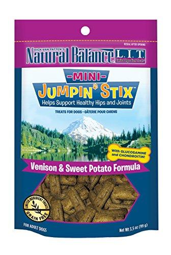 Dick Van Patten's Natural Balance LIT Mini Jumpin' Stix Venison Formula with Glucosamine and Chondroitin Semi-Moist Dog Treat