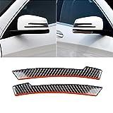 Adesivo per auto 2 in fibra di carbonio PCS Car specchio retrovisore anti-collisione striscia di protezione Guardie Trims Sticker for Mercedes-Benz