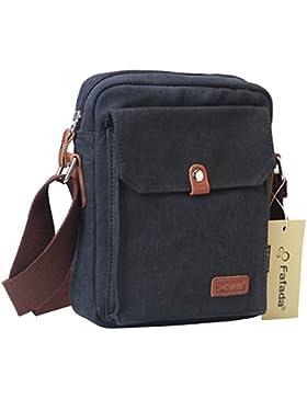 Fafada Umhängetasche Herren Damen Retro Canvas Freizeit Schultertasche Handtasche Schultasche Messenger Bag