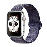 Corki pour Bracelet Apple Watch 38mm 40mm, Nylon Bracelet de Remplacement Bande pour Apple Watch iWatch Séries 4 (40mm), Séries 3/ Séries 2/ Séries 1 (38mm), Bleu Nuit