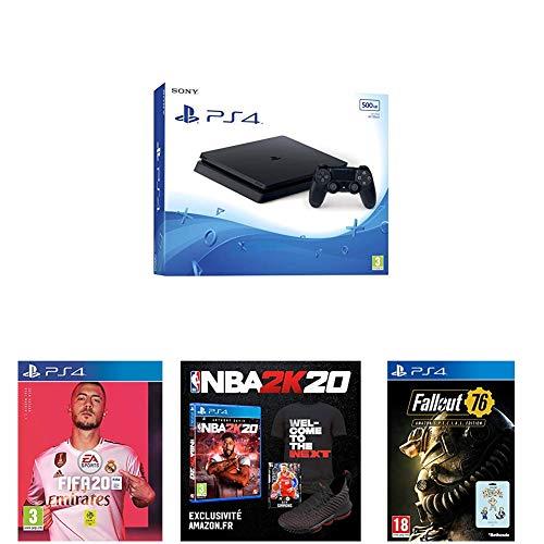 Pack PS4 Slim 500 Go + FIFA 20 + 2 jeux