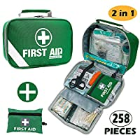 2 in 1 large first aid kit for home, car, camping, office, boat, and traveling