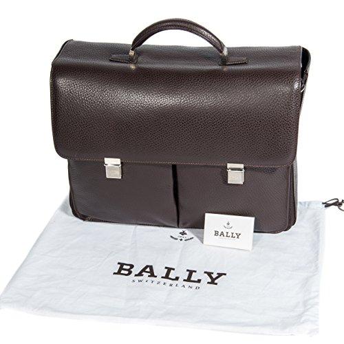 bally-homme-brun-fonce-une-poignee-texturee-sacoche-de-cuir