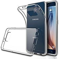 "Simpeak Funda Compatible Samsung Galaxy S6 5.1""(Pack of 2), Funda Transparente Samsung Galaxy S6 Carcasa Samsung S6 Silicona TPU Case"