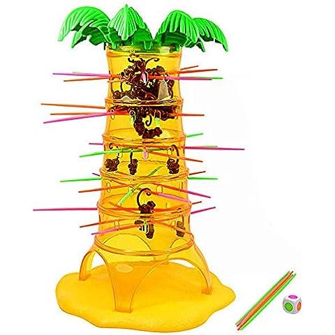 BEETEST Niños bebés niños caer monos locos juego de mesa juguete educativo