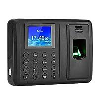 Antner Fingerprint Time Attendance Clock Output Attendance Report Directly USB Flash Disk Download Employee Payroll Recorder, Black