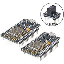 MakerHawk 2pcs ESP8266 ESP-12E Entwicklungs-Brett NodeMcu LUA WiFi Internet-Entwicklungs-Brett Neue Version CP2102 Chip