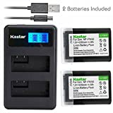 #7: Kastar 2X Battery + Dual LCD Charger for NP-FW50 & Sony Alpha 6300 Alpha 6500 ILCE-QX1 Alpha 7 7R 7R II 7S a7R a7S a7R II a5000 a5100 a6000 a6300 NEX-7 DSC-RX10 DSC-RX10 II III 7SM2 ILCE-7R 7S