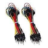 130 Stück Lötfreie Flexible Steckbrett Jumper Draht Kabel Linie 1P auf 1P Männlich auf Männlich für Arduino Prototyp Shield